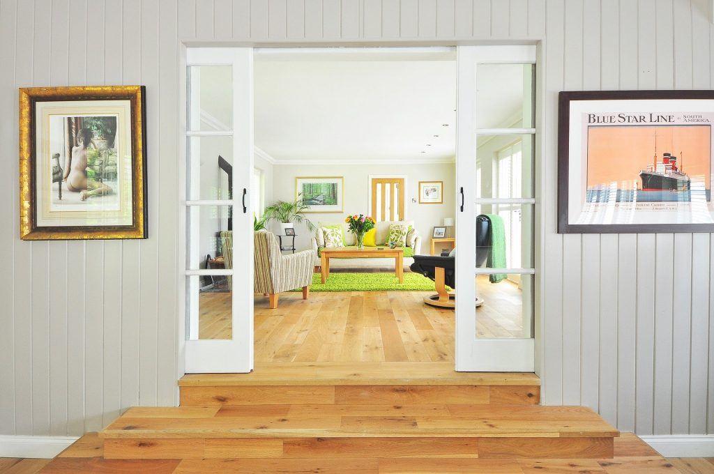 Wohnung mit Holz
